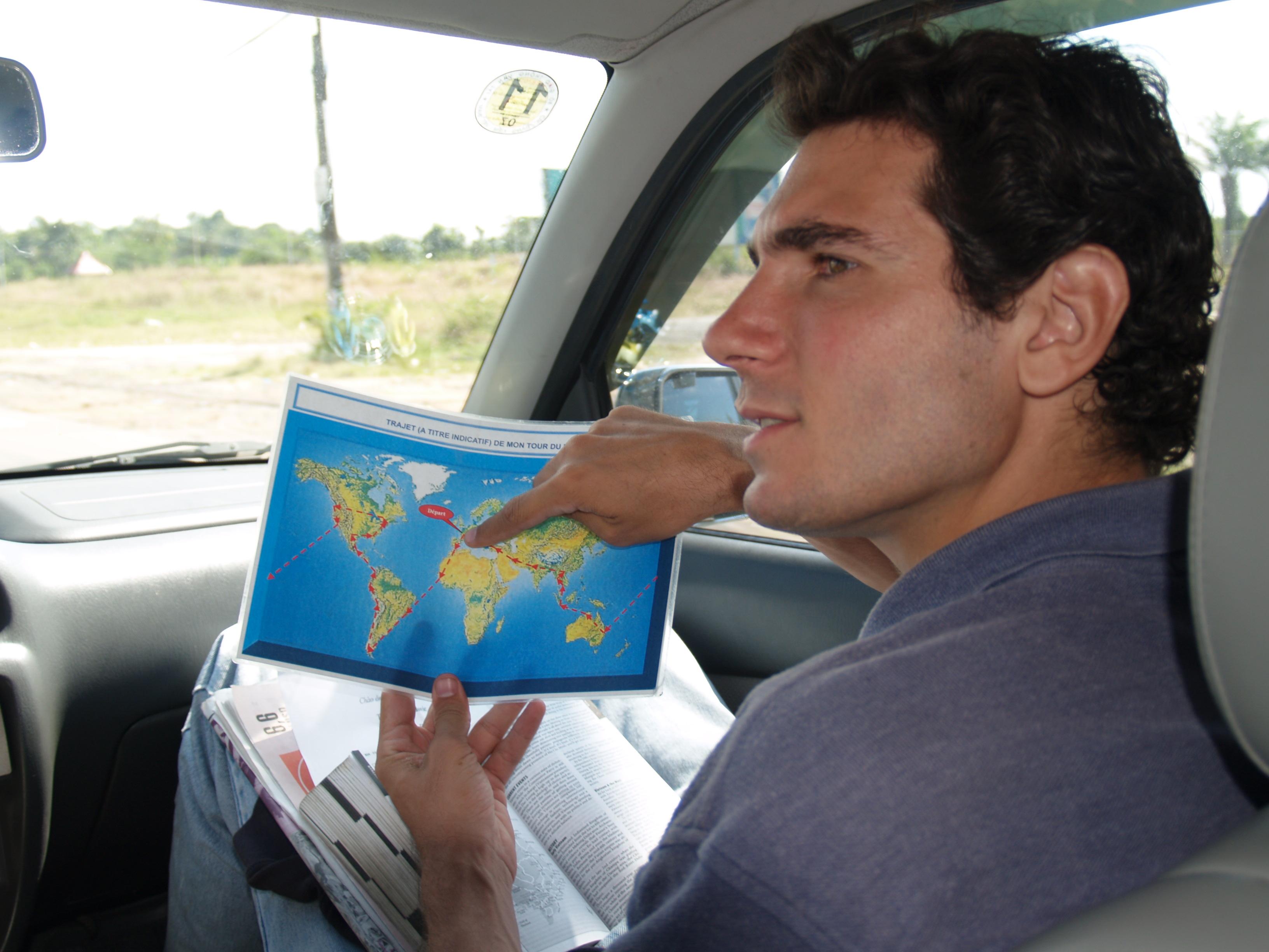 La carte du trajet plastifiée