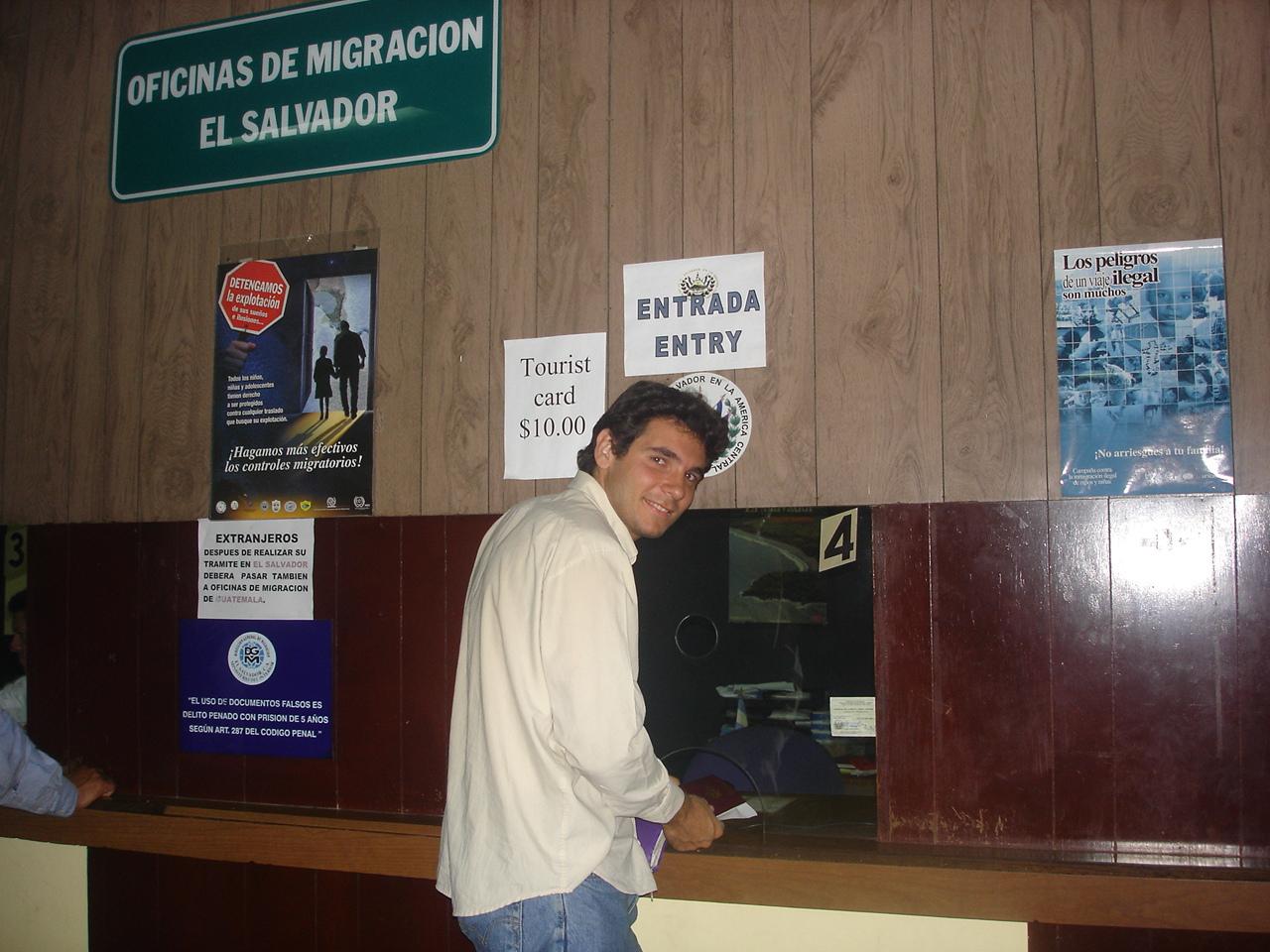 Obtention du visa à la frontière du El Salvador