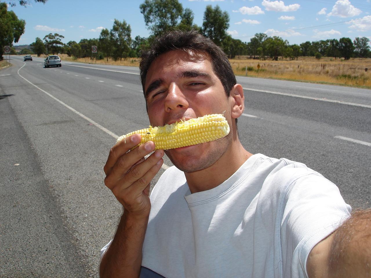 repas trouvé au bord d'une route Australienne